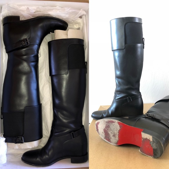 premium selection d9ee1 2e581 Christian Louboutin Classic Equestrian Boots!
